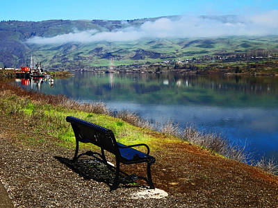 Photograph - The River Bench by Jacqueline  DiAnne Wasson