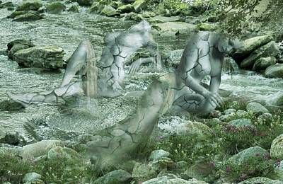 Digital Art - The River Comes To Life by Ali Oppy