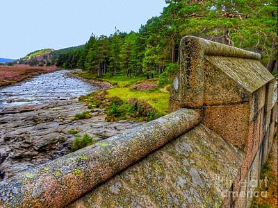 Photograph - The River Dee From The Bridge by Joan-Violet Stretch