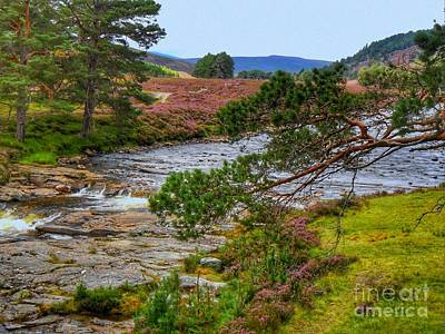 Photograph - The River Dee Scotland by Joan-Violet Stretch