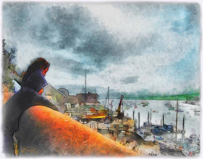 Digital Art - The River Exe by William Sargent