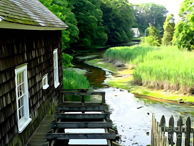 Digital Art - The River House by Ed Weidman
