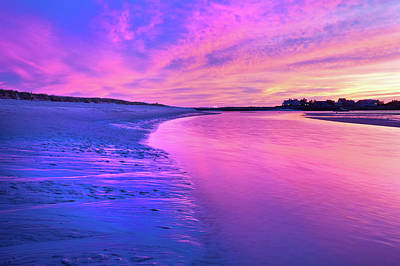 Photograph - The River In Magenta by Ed Fletcher