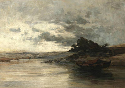 Greek Art Painting - The River  by Konstantinos Volanakis