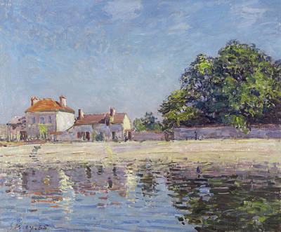 Painting - The River Loing At Saint -mammes by Alfred Sisley