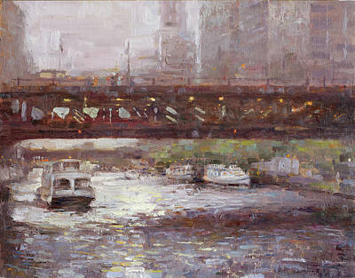 Wall Art - Painting - The River by Miguel Malagon