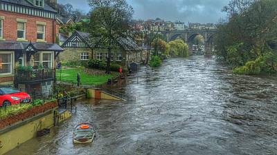 The River Nidd In Flood At Knaresborough Art Print by RKAB Works