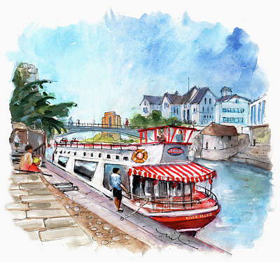 Painting - The River Ouse In York 02 by Miki De Goodaboom