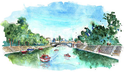 Painting - The River Ouse In York 03 by Miki De Goodaboom