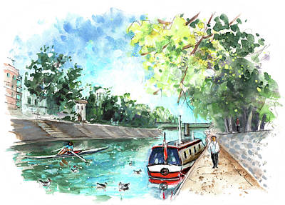 Painting - The River Ouse In York by Miki De Goodaboom