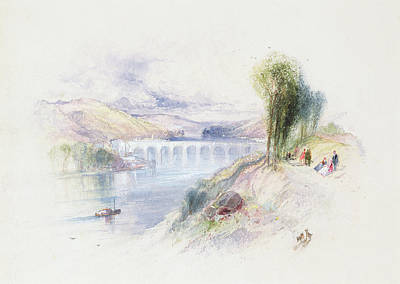Bank Clouds Hills Painting - The River Schuykill by Thomas Moran