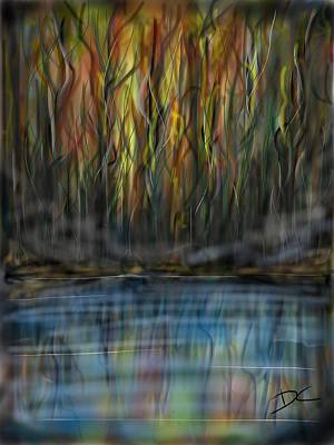Digital Art - The River Side by Darren Cannell