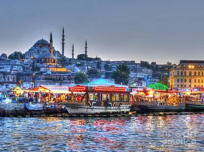 Sunset Wall Art - Photograph - The Riverboats Of Istanbul by Michael Garyet