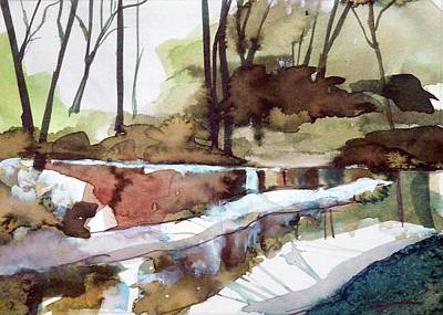 Painting - The Rivers Edge by Ed Heaton