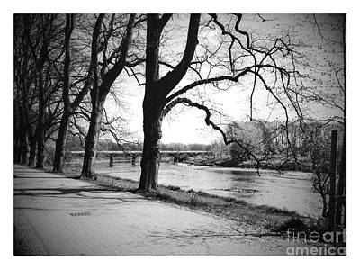 Photograph - The Riverside In Black And White by Joan-Violet Stretch