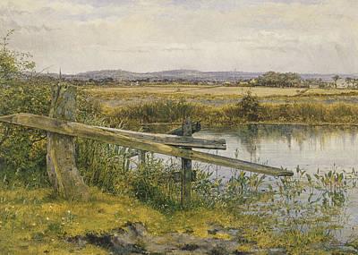 Waterside Painting - The Riverside by John Edward Newton