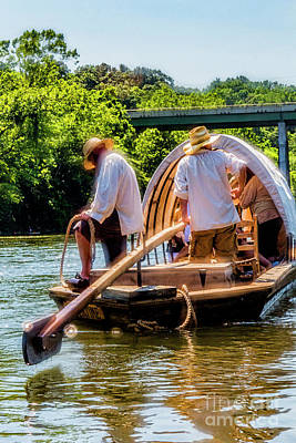 Photograph - The Rivertime Batteau Departs Percival's Island In 2016 8958vt by Doug Berry