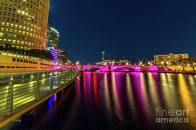 Photograph - The Riverwalk Downtown Tampa by Rene Triay Photography