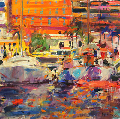 Warm Summer Painting - The Riviera At Menton by Peter Graham