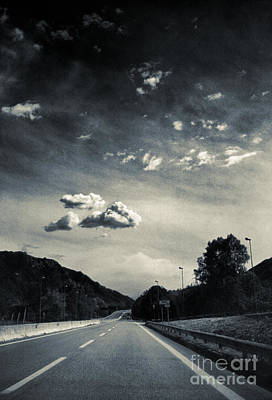 The Road And The Clouds Art Print by Silvia Ganora