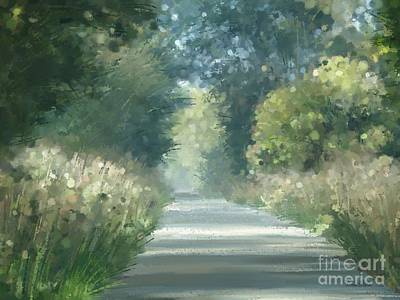 Art Print featuring the pastel The Road Back Home by Ivana Westin