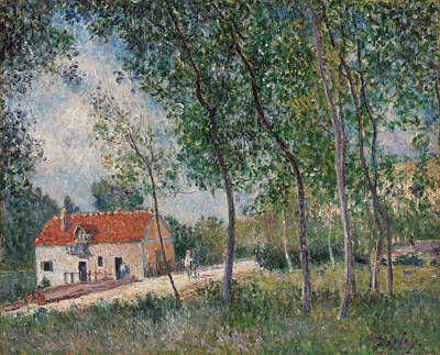 Pathway Painting - The Road From Moret To Saint-mammes by Alfred Sisley