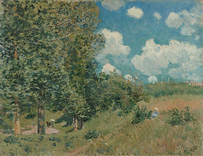 Painting - The Road From Versailles To Saint Germain by Alfred Sisley