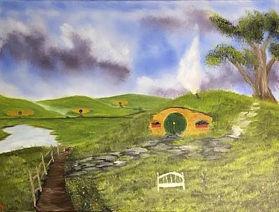 Bilbo Painting - The Road Goes Ever On by Ethan Danner