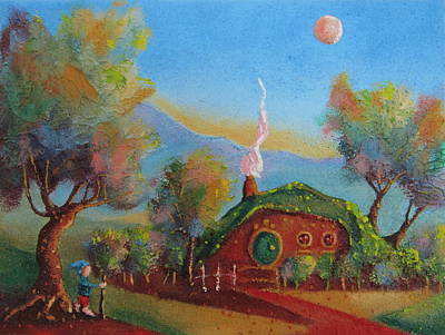 The Shire Painting - The Road Goes Ever On. by Joe  Gilronan