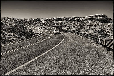 Photograph - The Road Goes On Forever by Roger Passman