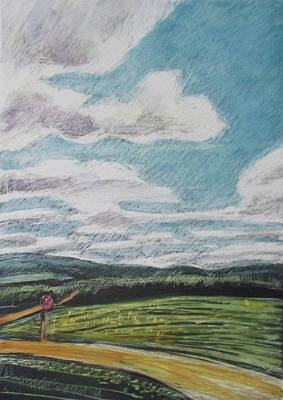 Drawing - The Road Goes On by Grace Keown