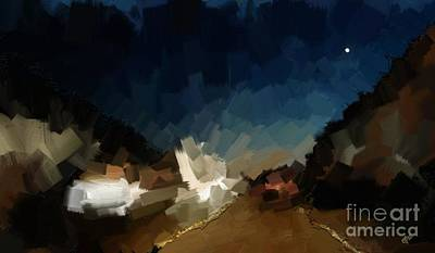 Outsider Art Digital Art - The Road Home by Carrie Joy Byrnes