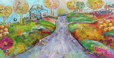 Wall Art - Painting - The Road Home by Claire Bull