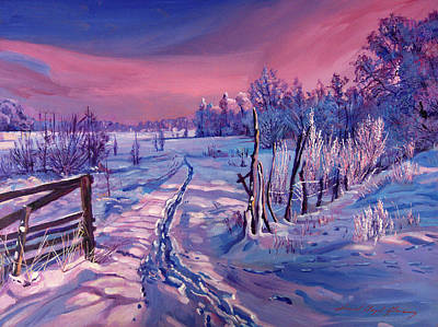 Painting - The Road Home by David Lloyd Glover