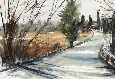 Painting - The Road Home by Judith Levins