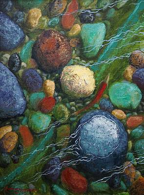Salmon Painting - The Road Home by Ron Smothers