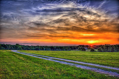 Photograph - The Road Home Sunset  Country Living Art by Reid Callaway