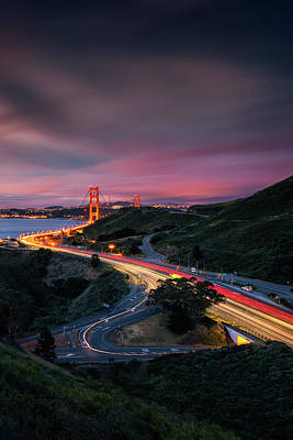 The Road In... San Francisco Art Print by Vincent James