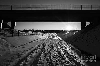 Photograph - The Road Is Calling Bw by Ismo Raisanen