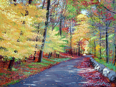 Movies Star Paintings - The Road Leads Home by David Lloyd Glover