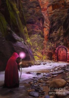 Fantasy Digital Art Royalty Free Images - The Road Less Traveled Royalty-Free Image by John Edwards