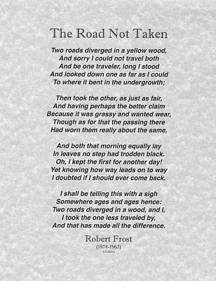 an assessment of the poem the road not taken by robert frost Robert frost the road not taken is one of robert frost's most familiar and most popular poems it is made up of four stanzas of five lines each, and each line has between eight and ten syllables in a roughly iambic rhythm the lines in each stanza rhyme in an abaab pattern.