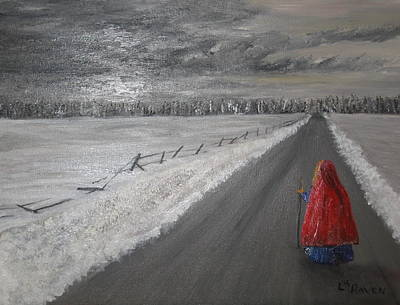 The Road That Must Be Traveled Art Print by L A Raven