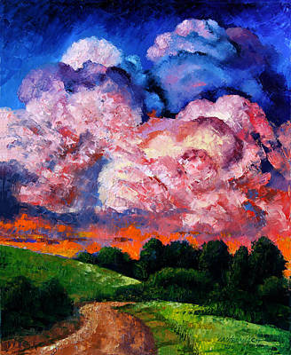 Painting - The Road Through The Valley by John Lautermilch