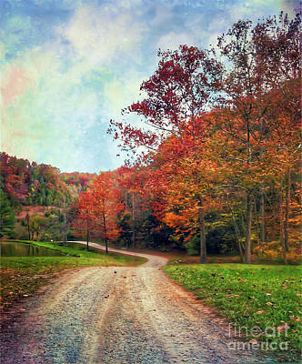 Photograph - The Road To Autumn by Kerri Farley