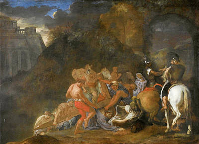 Via Dolorosa Painting - The Road To Calvary by Charles Le Brun