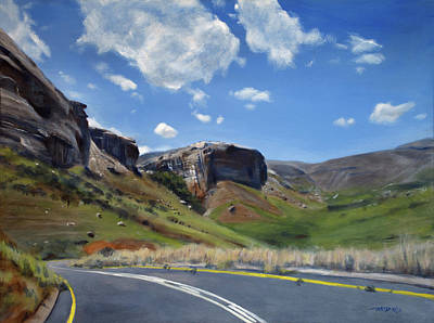 Asphalt Painting - The Road To Clarens by Christopher Reid
