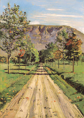 Switzerland Painting - The Road To Evordes by Mountain Dreams