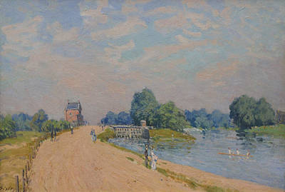 Hamptons Painting - The Road To Hampton Court by Alfred Sisley