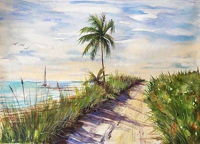 Painting - The Road To Happiness  by Katerina Kovatcheva